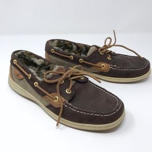 Sperry Top-Sider Bluefish Leopard Fur Boat Shoe